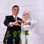 Prewedding indoor taufik dan fida hijab muslim